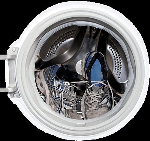laufschuhe in waschmaschine